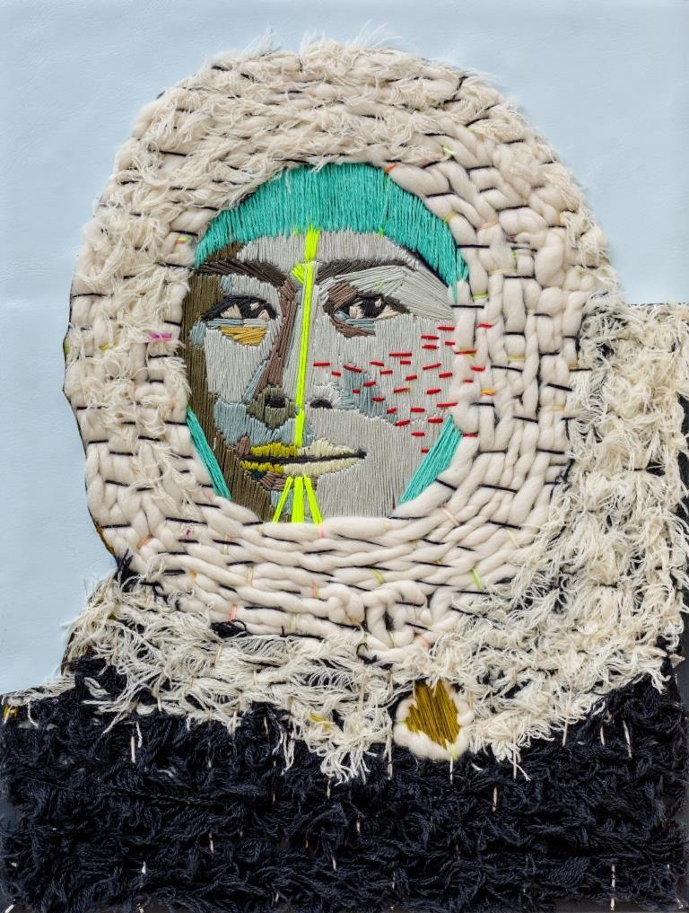 Preta Wolzak, 'Ma petite Inuit',textiel op doek, PhotoThijs Wolzak