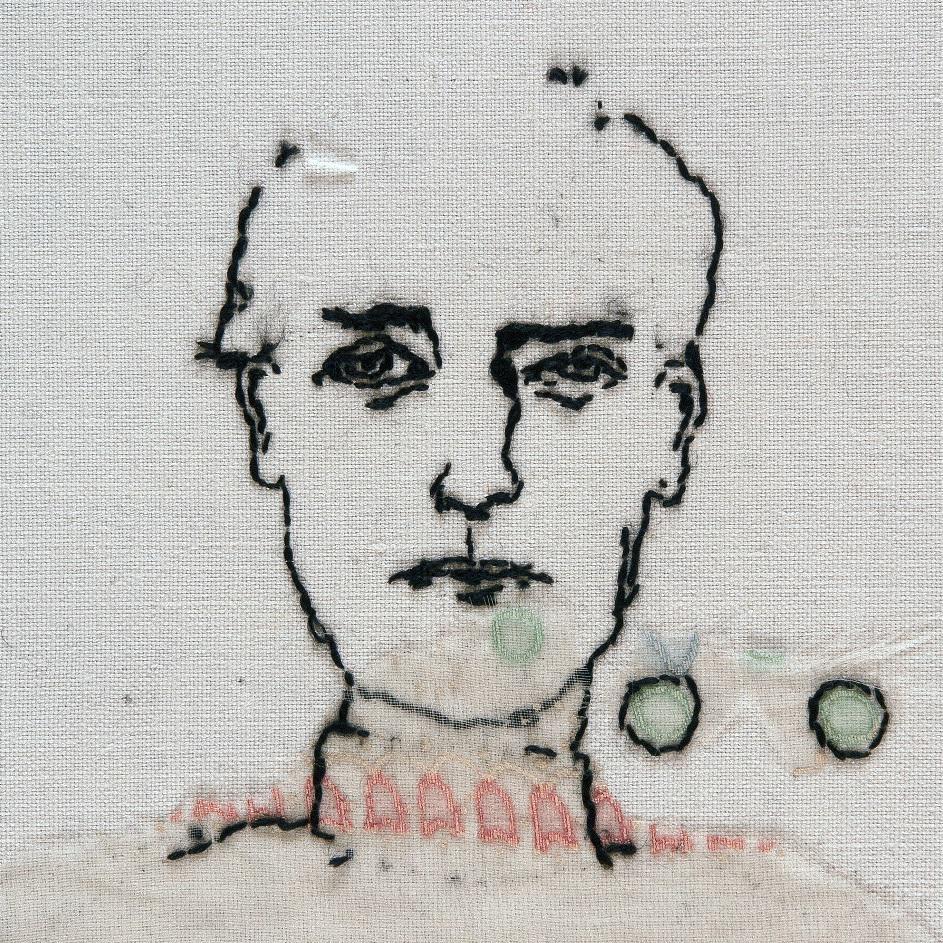 9. Lia de Jonghe, 'Untitled' 2018, vintage textiles, embroidery, foto Edo Kuipers details