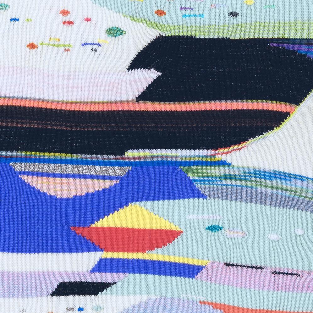 Katherine Entis, 'KnitPaint 02' detail